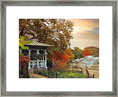 Ladies Pavilion In Autumn Framed Print by Jessica Jenney