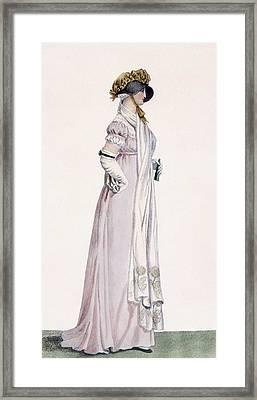 Ladies Promenade Dress, Illustration Framed Print by Antoine Charles Horace Vernet