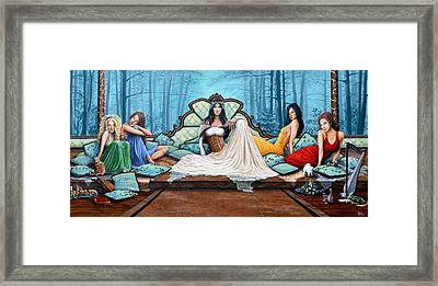 Ladies Waiting Framed Print by Molly Prince