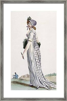 Ladies Walking Dress, Illustration Framed Print