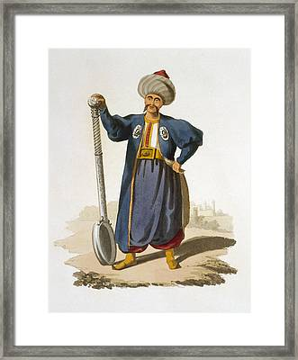 Ladle Bearer, 1818 Framed Print by English School