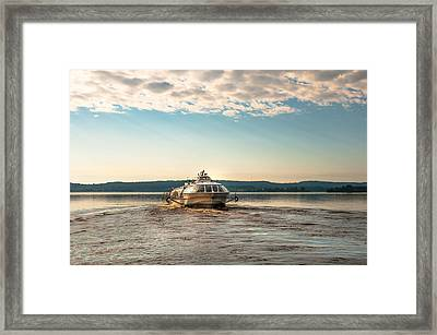 Ladoga Lake Transfer Framed Print by Jenny Rainbow