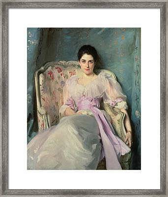 Lady Agnew Of Lochnaw, C.1892-93 Oil On Canvas Framed Print by John Singer Sargent