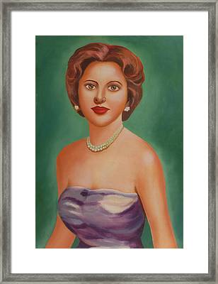 Lady Framed Print by Alka Sopariwala