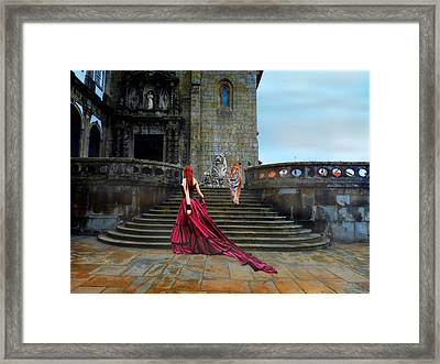 Lady And The Tigers Framed Print by Amanda Struz