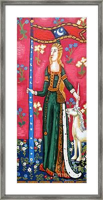 Lady And The Unicorn La Pointe Framed Print