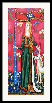 Unicorn Tapestries Framed Prints