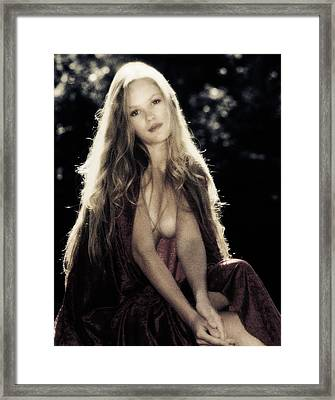 90153 Lady At River Framed Print
