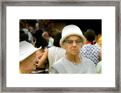 Lady At The Races Framed Print by Douglas Pike