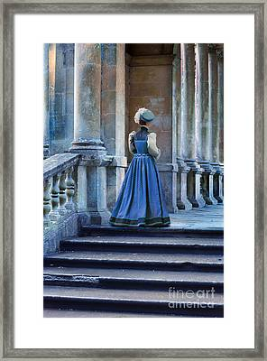 Lady At The Top Of The Steps Framed Print by Jill Battaglia