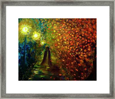 Lady Autumn Framed Print