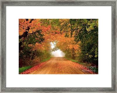Lady Autumn Framed Print