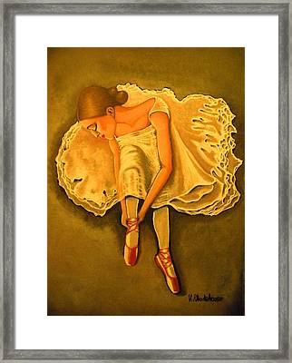 Lady Ballerina Framed Print by Victoria Rhodehouse