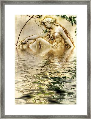 Lady Bathing Framed Print