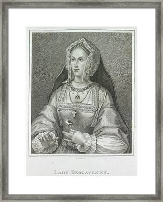 Lady Bergavenny Framed Print