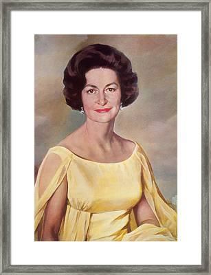 Lady Bird Johnson, First Lady Framed Print