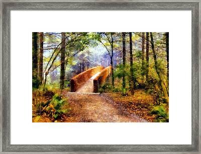 Lady Bird Johnson Grove Bridge Framed Print by Kaylee Mason