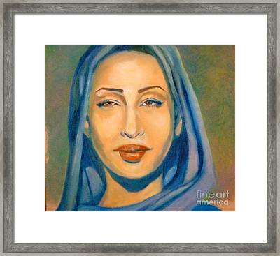 Lady Blue Sade Framed Print by Jose Breaux