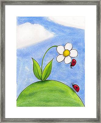 Lady Bug Love Framed Print