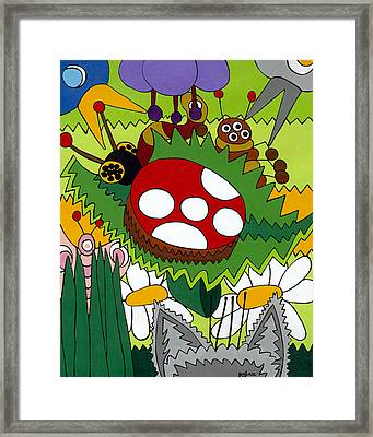 Lady Bug Framed Print by Rojax Art