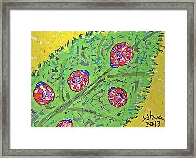 Lady Bug Shenanigans Framed Print by Yshua The Painter