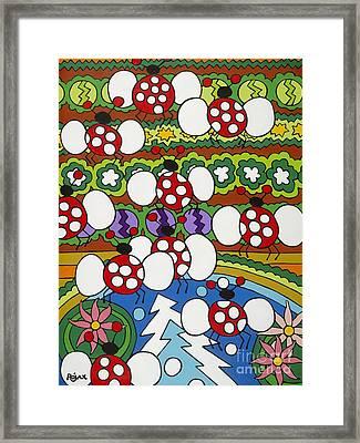 Lady Bugs Framed Print by Rojax Art