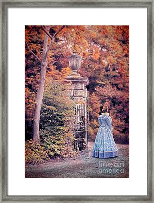 Lady By The Gate Framed Print by Jill Battaglia