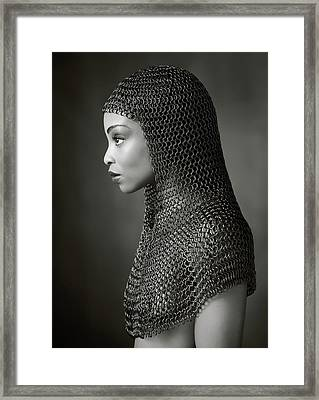 Lady Chainmail Framed Print