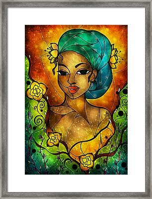 Lady Creole Framed Print by Mandie Manzano