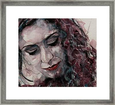 Lady D'arbanville Framed Print by Paul Lovering