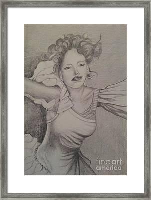 Lady Framed Print by Debra Piro