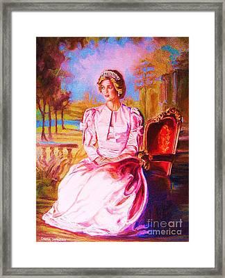 Lady Diana Our Princess Framed Print by Carole Spandau