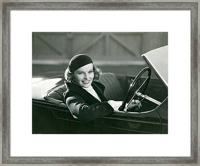 Lady Driver Framed Print by Retro Images Archive