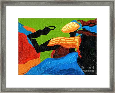 Lady Enigmatic Rock Framed Print by Genevieve Esson