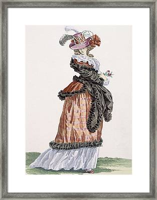 Lady Enjoying The Air On The Champs Framed Print by Francois Louis Joseph Watteau