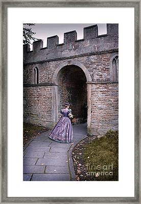 Lady Entering Archway Framed Print by Jill Battaglia
