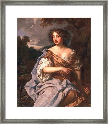 Lady Essex Finch, Later Countess Framed Print by Sir Peter Lely
