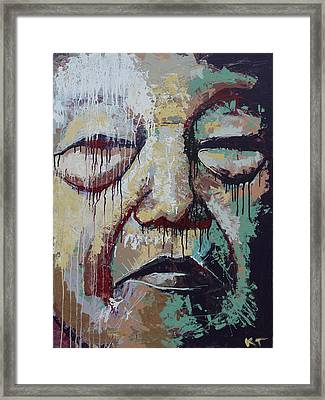 Lady Face Framed Print by Kate Tesch