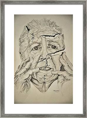 Lady Falling Apart Framed Print by Glenn Calloway