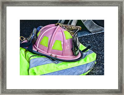 Lady Firefighter Framed Print by Paul Ward