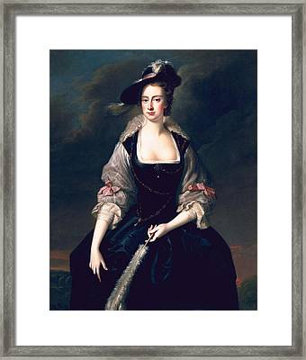 Lady Frances Courtenay, C.1741 Framed Print by Thomas Hudson