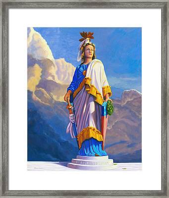 Lady Freedom Framed Print