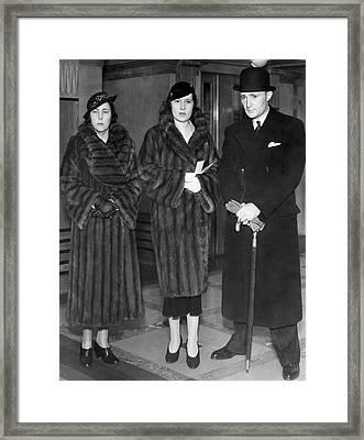 Lady Furness Assist In Custody Framed Print