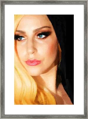 Lady Gaga Fashion 2 Framed Print by Tony Rubino