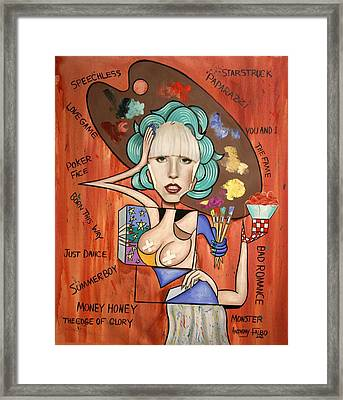 Lady Gaga Im Not Finished Yet Framed Print