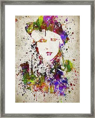 Lady Gaga In Color Framed Print