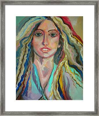 Lady Gaga Framed Print by Julie Lee