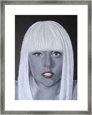 Lady Gaga 'poker Face' Framed Print