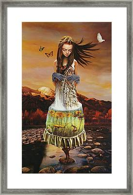 Lady Gaia Framed Print