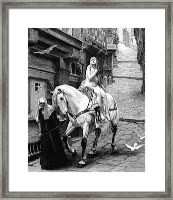 Lady Godiva On Her Horse Framed Print